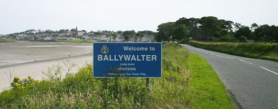 Roadside signs around Ulster